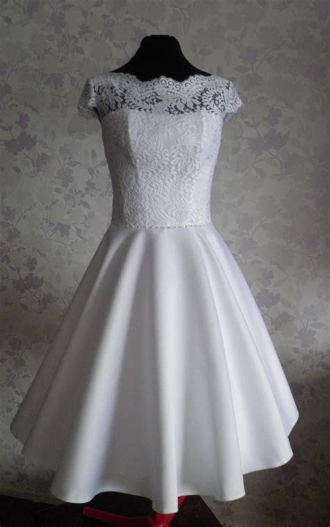 Vintage Inspired Wedding Dress In Style Of Audrey Hepburn