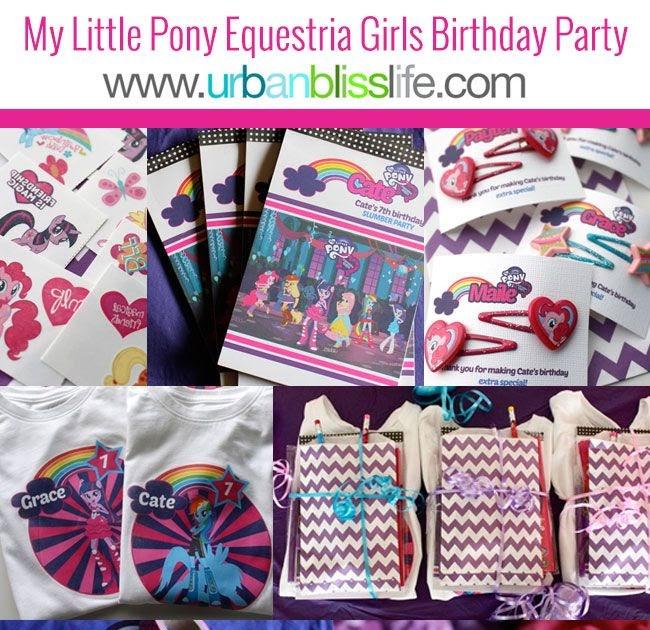 Birthday Party Ideas: My Little Pony Equestria Girl