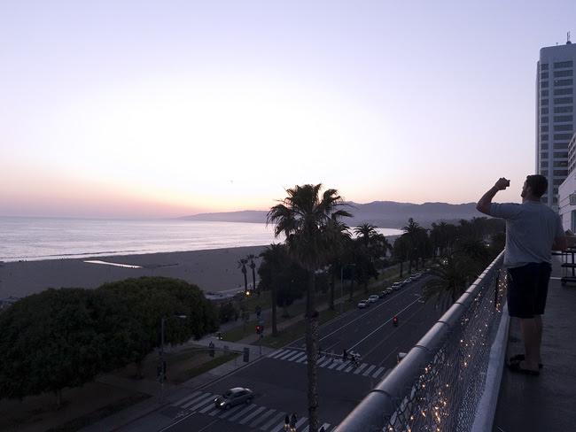 Sunset from the Shangri-la, LA