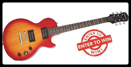 Win A Brand New Epiphone Les Paul Guitar!