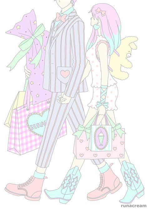 seiya runacream pastel anime illustration art kawaii cute