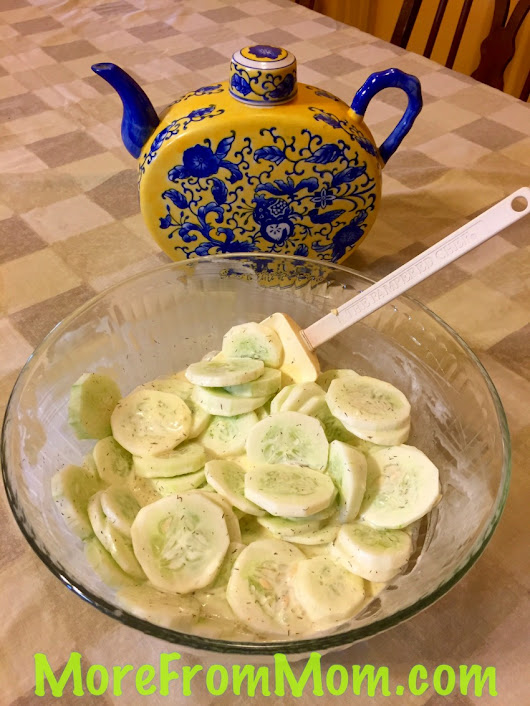 Cool and Creamy Cucumber Salad~ A Summer Fave!!!