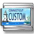 Connecticut License Plate Custom Charm