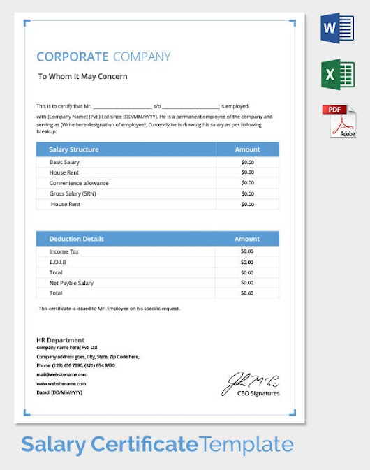 Sunish narayan google salary certificate template 25 free word excel pdf psd documents download yadclub Images