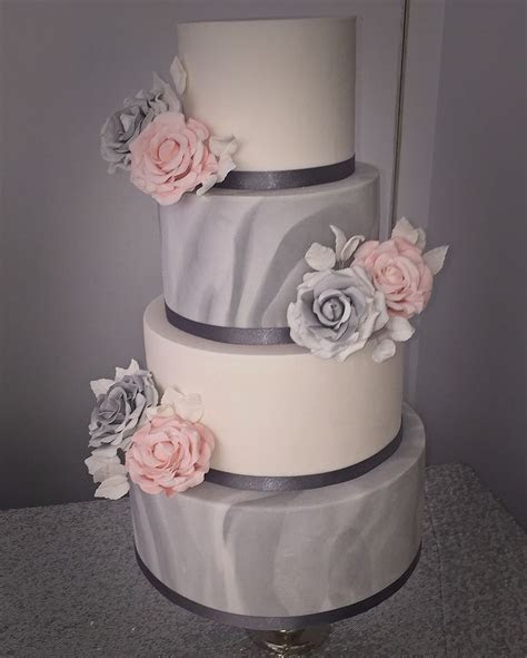 Best 25  Pink and grey wedding cake ideas on Pinterest