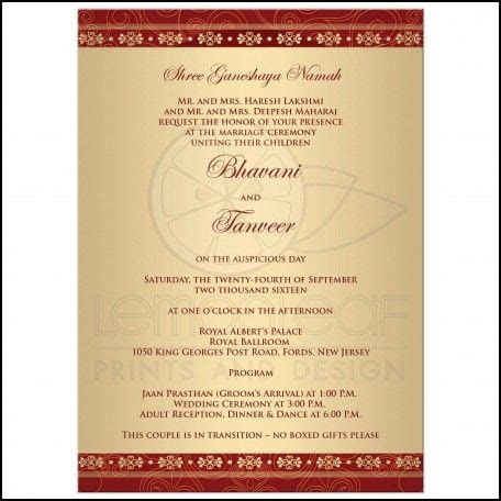 sample hindu wedding invitation wording weddingreception
