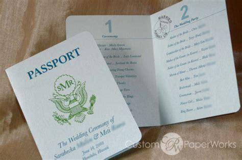 Wedding Passport   Funny Invitation Cards   XciteFun.net