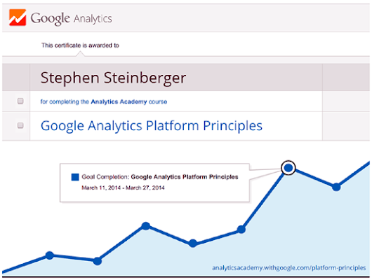 Google Analytics Platform Principles Certified