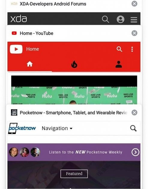Xda-Developers | Google Chrome for Android is testing a new grid
