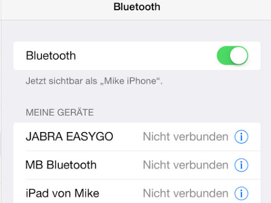iOS 8: Bluetooth-Problem ohne Update beheben