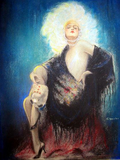 Ziegfeld Follies Girl With Mask