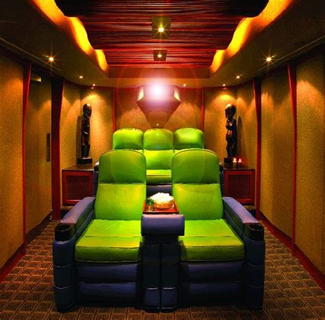 small home theater room ideas green  purple crazy