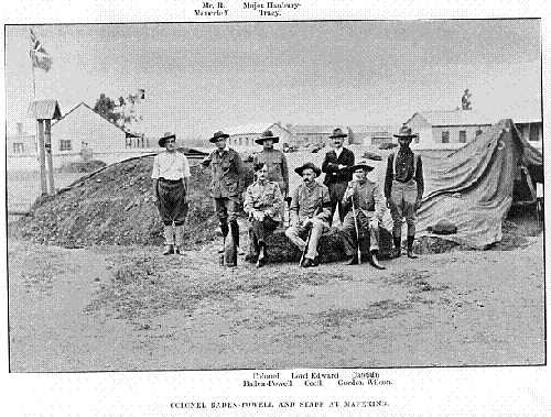 Colonel Baden-Powell and staff at Mafeking