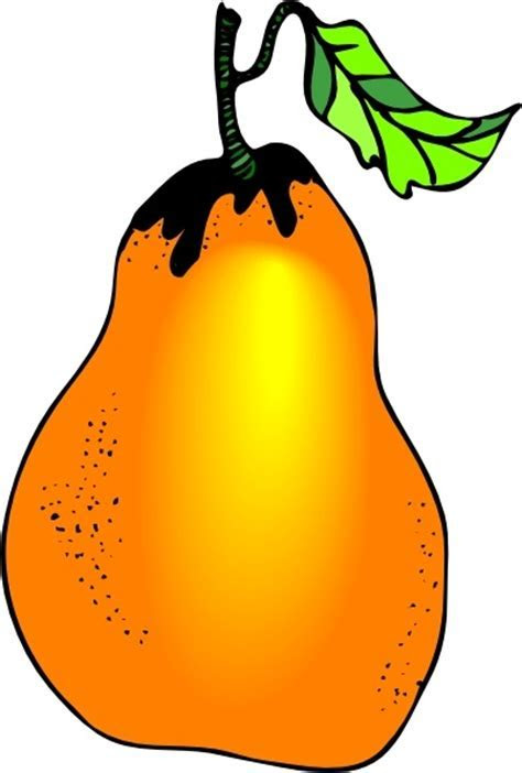 Pear clip art Free vector in Open office drawing svg