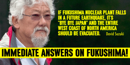 We demand that every single nation's leader make an urgent statement and a clear assessment and on the Fukushima crisis.
