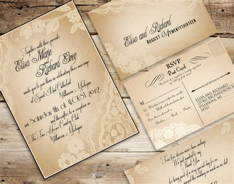 Vintage Wedding Invitations Set The Tone For A Timeless