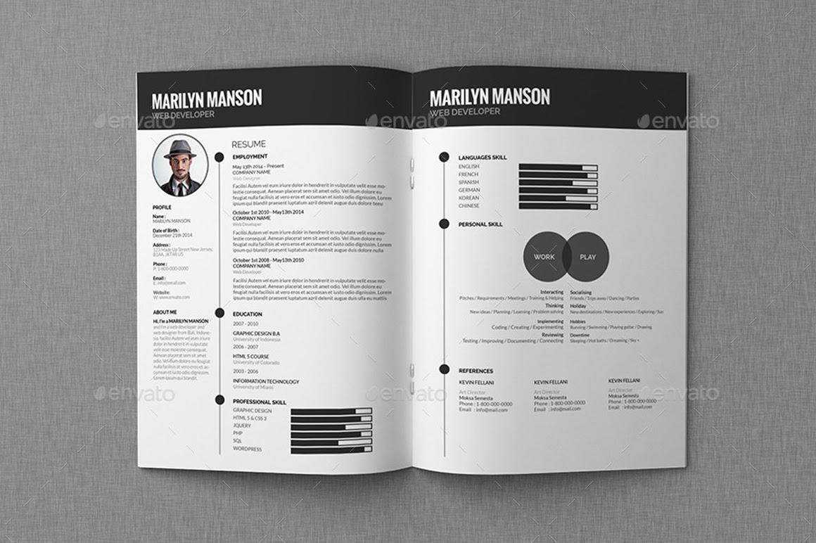 Resume CV Portfolio 3