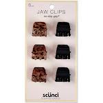 Scunci 2cm No Slip Jaw Clips - 6pk Black