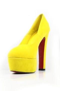 Pure Color Platform High Heel Shoes