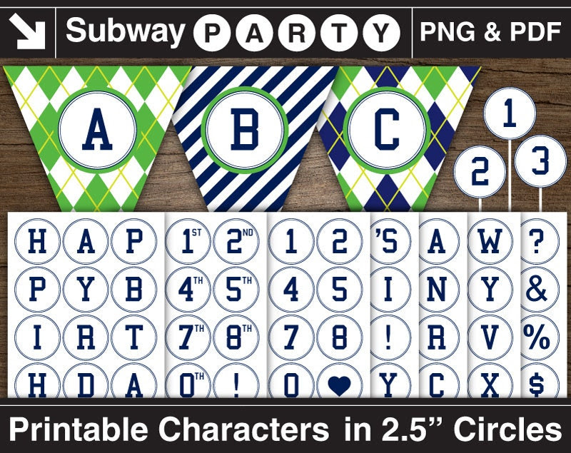 """Printable Navy Alphabet Letters & Numbers in 2.5"""" Circles. Chars ..."""