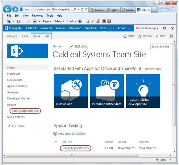 SharePoint Online site