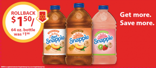 Snapple 64 Oz Peach, Diet Peach and Kiwi Strawberry Just 2/$3! #SnappleRollBack