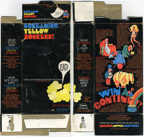 Ovaltine Products - Screaming Yellow Zonkers! - Win a Continent box - 1970's