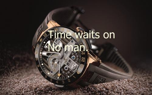 Time Waits On No Man Success Quote Quotespicturescom