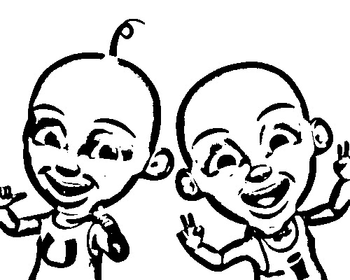 Upin Ipin Coloring Pages Sketch Coloring Page