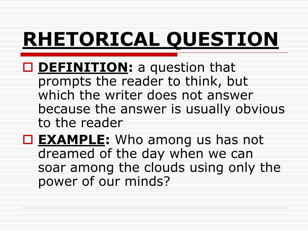 how to write a rhetorical question in an essay