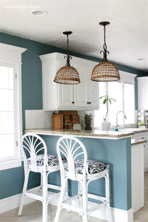 fresh  blue kitchen reveal  wicker house