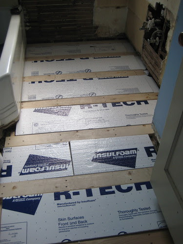 subfloor with insulation