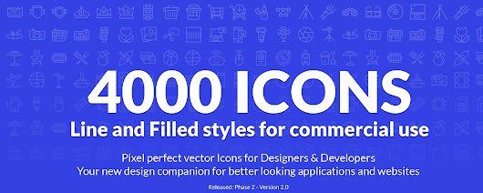 Vector line and filled icons for commercial use - Metropolicons