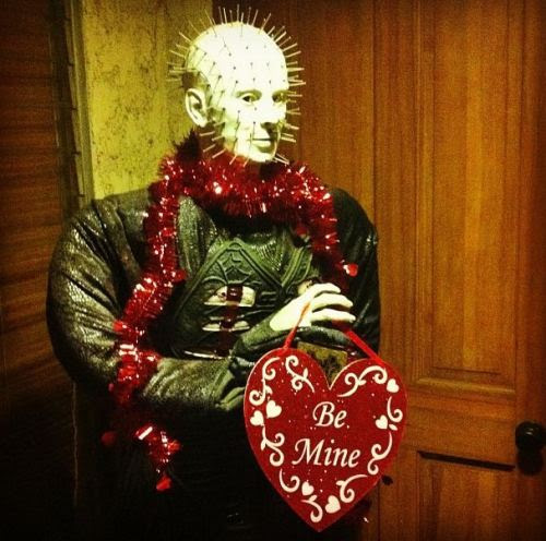 And in honor of tonight's pick, here is who greets my door all dressed up for this past Valentine's Day.