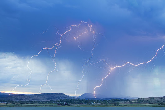 Rocky Mountain Foothills Lightning Strikes by James BO Insogna