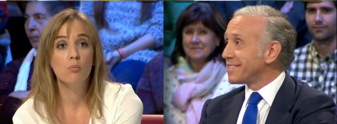 Tania Sánchez y Eduardo Inda discutiendo en 'laSexta Noche'