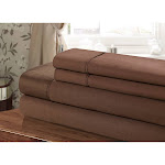 Chic Home CST102-US 100 Percent Cotton Sheet Set Brown - Twin