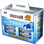 Maxell Alkaline General Purpose Battery, AA - 48 pack