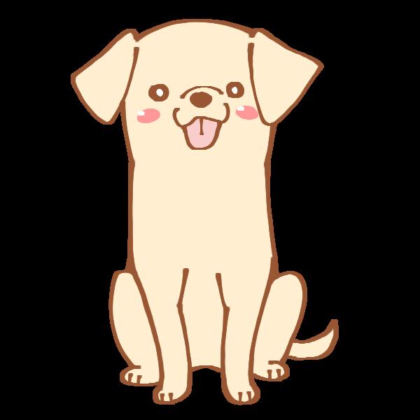 おすわりをする犬のイラスト かわいいフリー素材が無料のイラストレイン