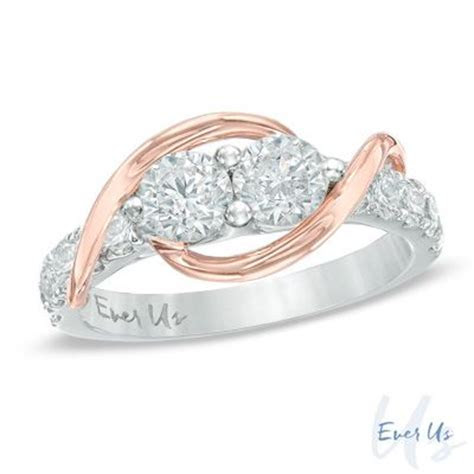 Ever Us 1/2 CT. T.W. Two Stone Diamond Swirl Band in 14K