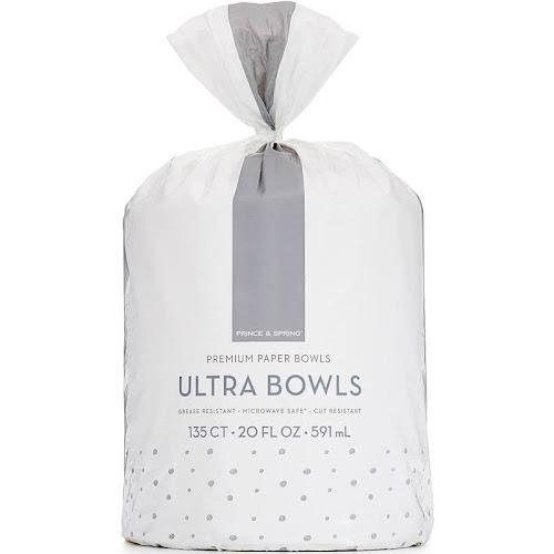 Prince & Spring Ultra Bowls, 20 oz Capacity - 135 count