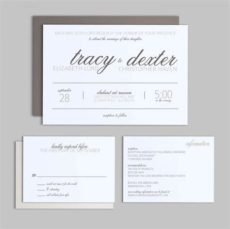 Printable Wedding Invitation Set   Simple Script   Wedding