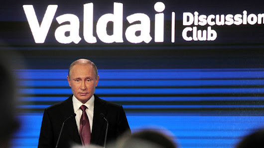 Putin: 'Russia may lose patience over Syria accusations' & other Valdai top quotes
