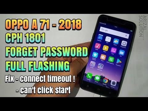 Cara Flashing Oppo A71 2018 Snapdragon Lupa Password, Pola