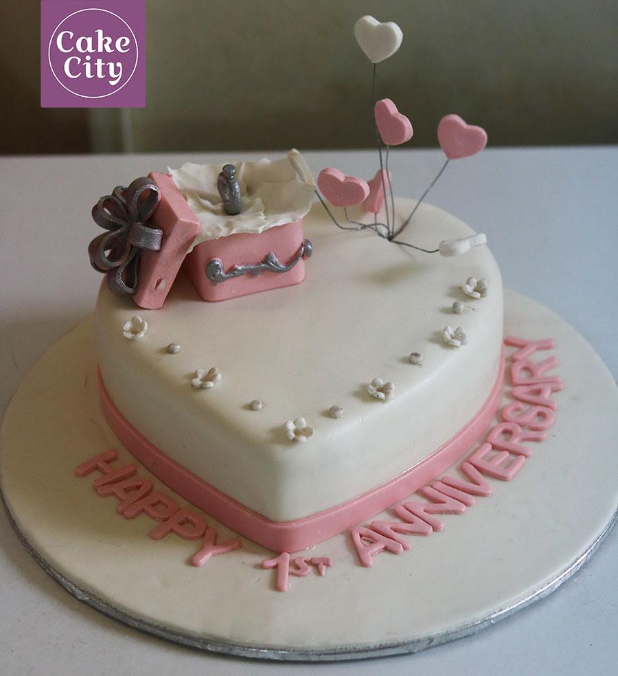 Ring Box Anniversary Cake Fondant Cakes Wedding Anniversary Cakes