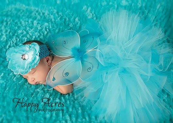 3 pc. BABY BUTTERFLY baby halloween costume...Great for newborn photos, birth announcement, 1st birthday (many colors available)
