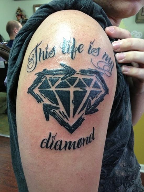30 Diseños De Tatuajes De Diamantes Que Inspiran