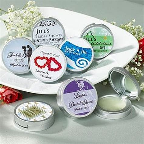 Personalized Bridal Shower Premium Lip Balm w/Compact