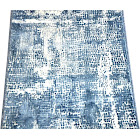 Abstract Mosaic Blue Ripple Stair or Hall Premium Carpet Runner Rug 27 Inches Wide - Sold in Custom Lengths by The Linear Foot