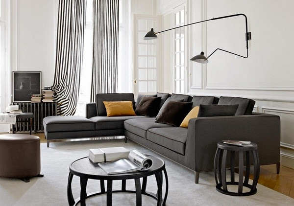 40 Gray sofa ideas – a hot trend for the living room furniture